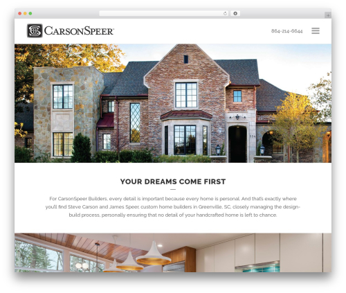 Bridge WordPress theme - carsonspeerbuilders.com