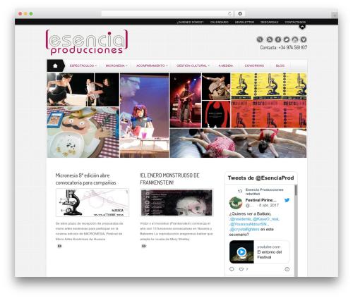 Juxter best free WordPress theme - esenciaproducciones.com