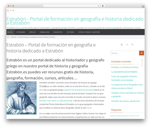 Nirvana WordPress theme - estrabon.es