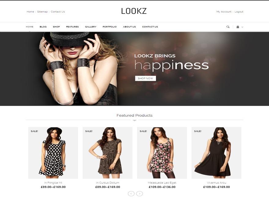Theme WordPress Templatemela - lookz