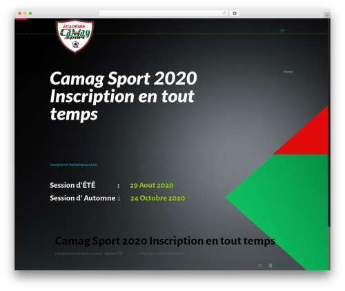 WordPress theme Betheme - camagsport.com