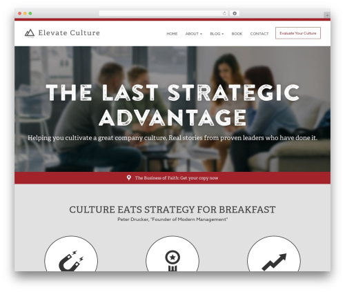 Breeze by Bluth Company company WordPress theme - elevateculture.com