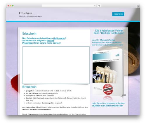 Cell WordPress template free - erbschein.biz
