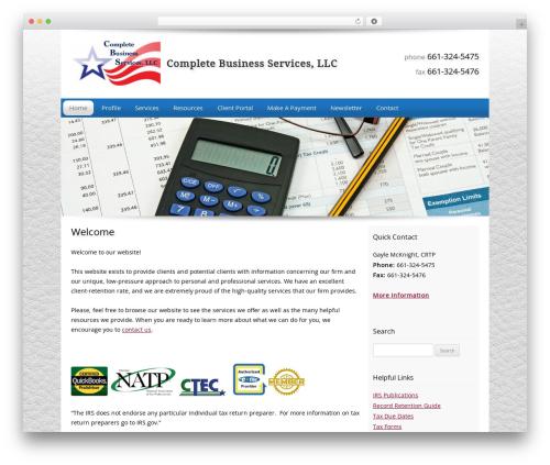 Customized company WordPress theme - cbs-cbiz.biz