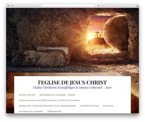 Datar free WordPress theme - eglise-chretienne-evangelique.fr