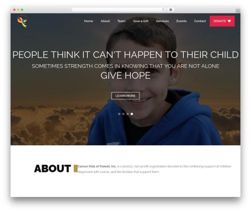 Heal WordPress theme - cancerkidsofhawaii.org