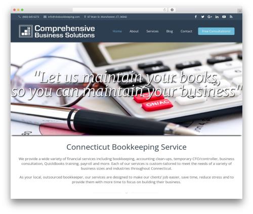 Impreza business WordPress theme - comprehensivebusinesssolutions.com