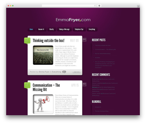 LightBright WordPress blog theme - emma-fryer.com