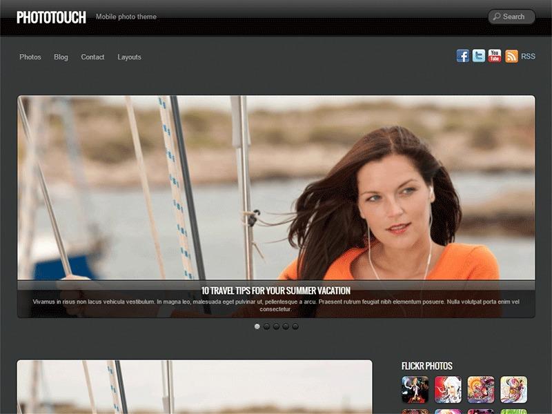 PhotoTouch WordPress theme