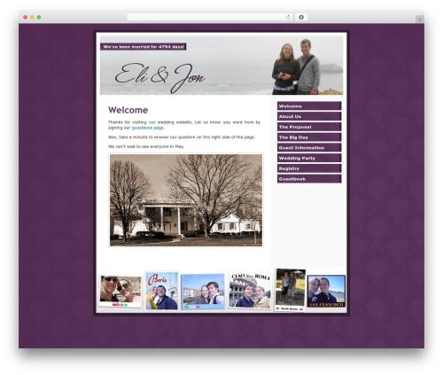 WordPress Default theme WordPress - eliandjon.com