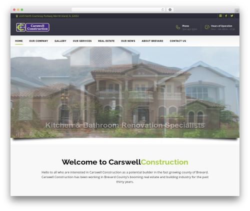 WP theme BuildMe - carswellconstruction.com