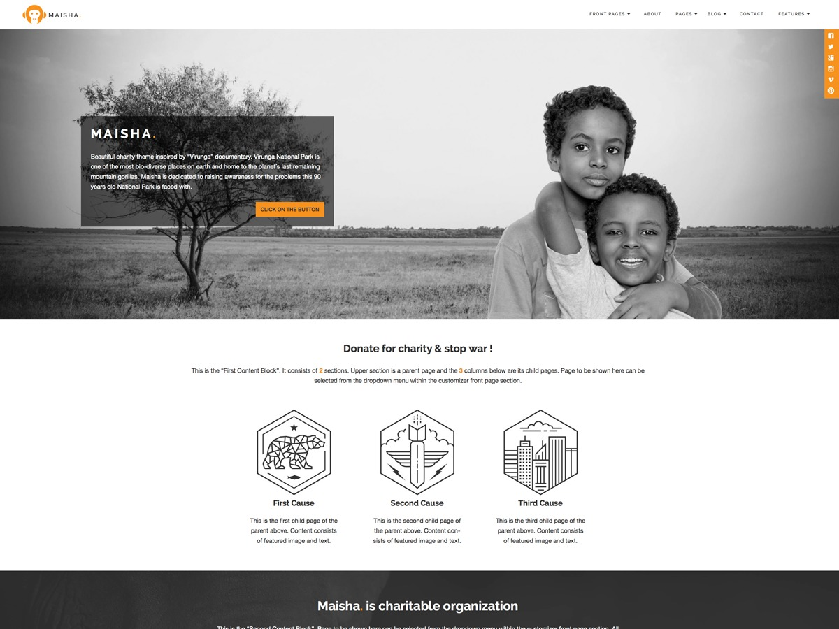 Best WordPress template Maisha Child