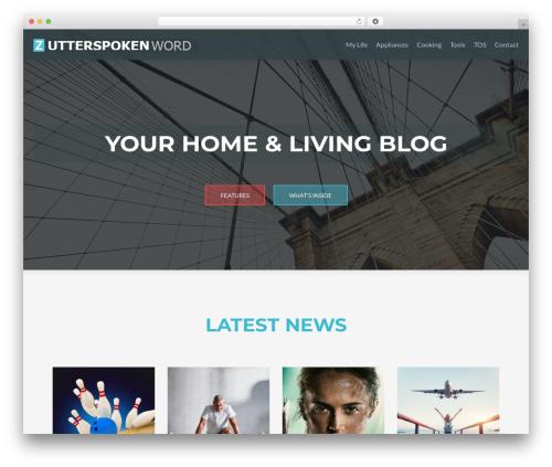 Best WordPress template ZBlackbeard - utterspokenword.com