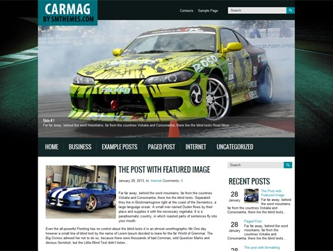 Carmag WordPress theme
