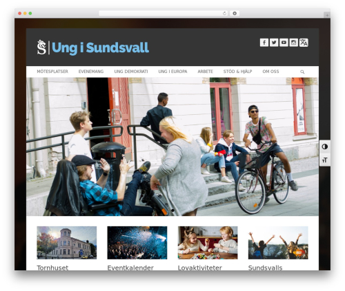 Catch Base Pro WordPress website template - ungisundsvall.se