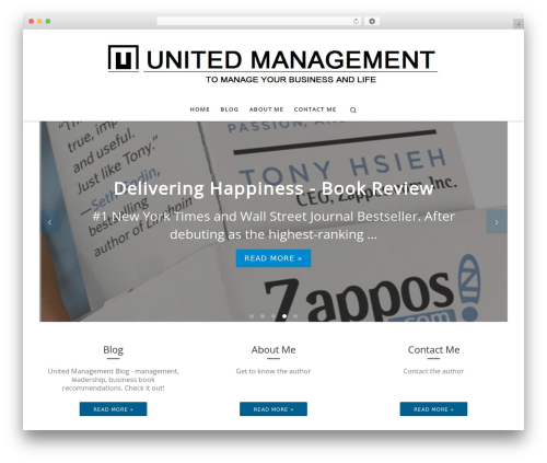 Customizr premium WordPress theme - unitedmanagement.pl