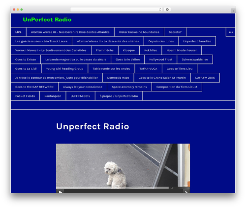 Cyanotype free WordPress theme - unperfectradio.ch