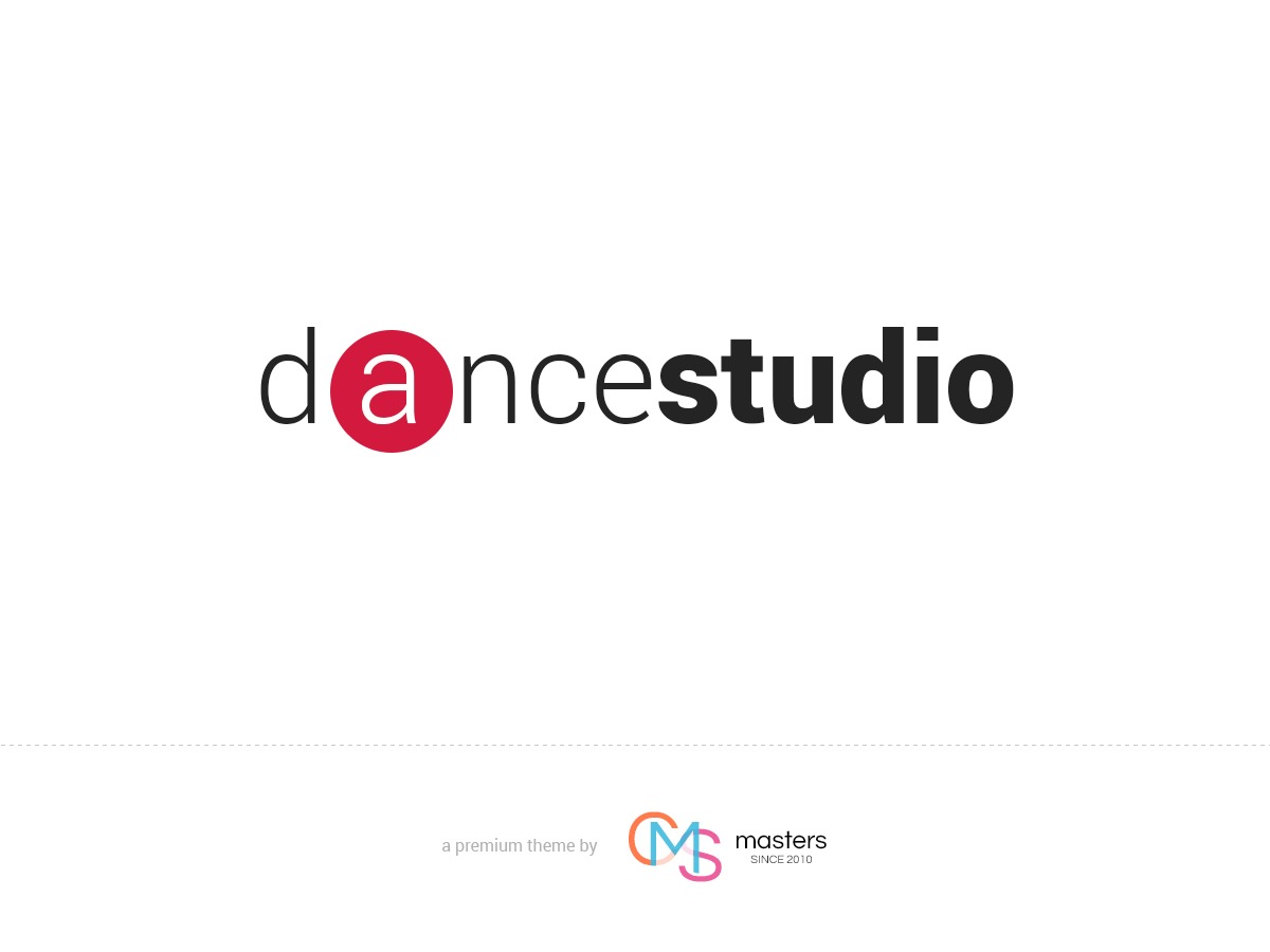 Dance Studio WordPress portfolio theme