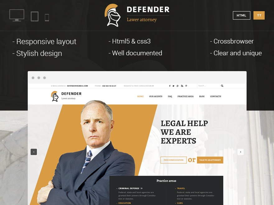 Defender WP theme