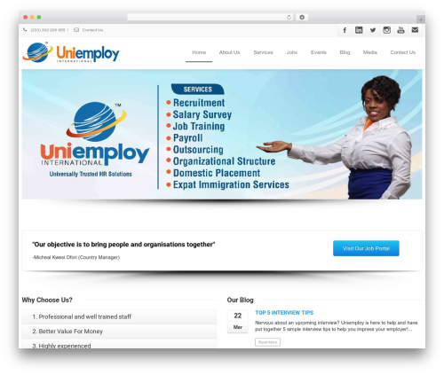 Envision theme WordPress - uniemployhr.com