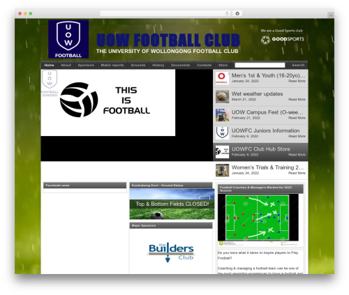 Football Club best WordPress template - uowfc.org.au