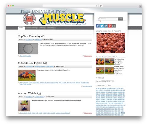 Fusion template WordPress - uofmuscle.com