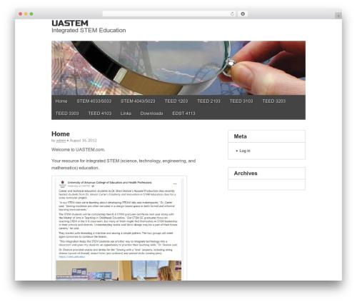 Gridiculous theme WordPress free - uastem.com