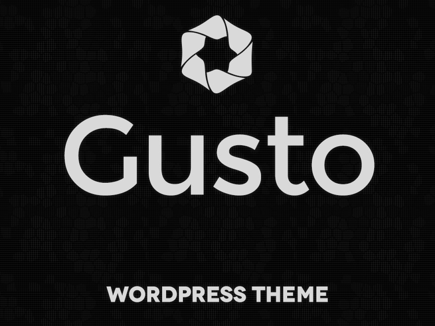 Gusto WordPress website template