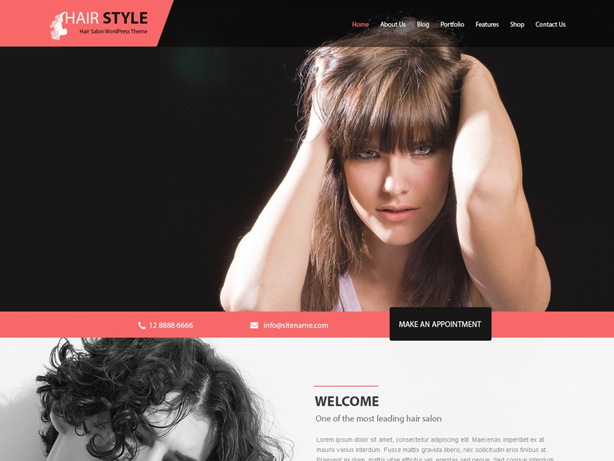 Hairstyle WordPress theme free download