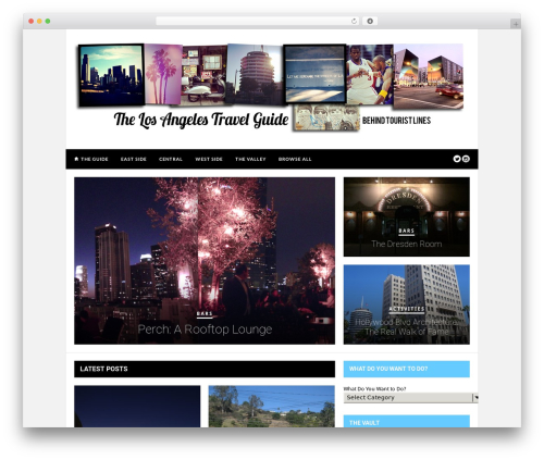 Hickory WordPress travel theme - thelatravelguide.com