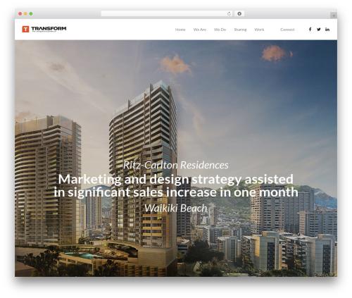 Kocka business WordPress theme - transformexp.com