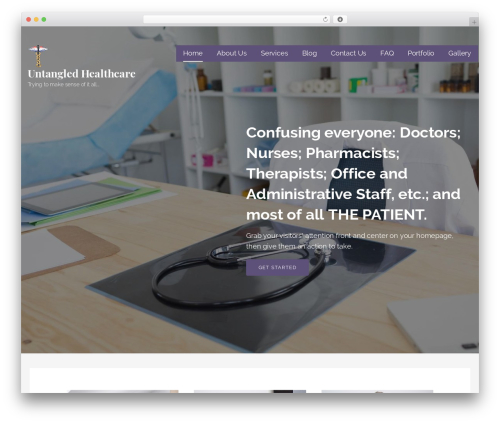 Lyrical best WordPress theme - untangledhealthcare.com