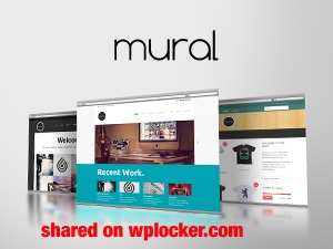 Mural (shared on wplocker.com) best WordPress template