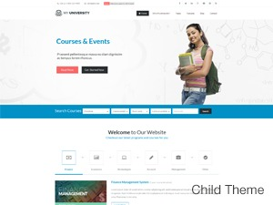 My University Child WordPress template