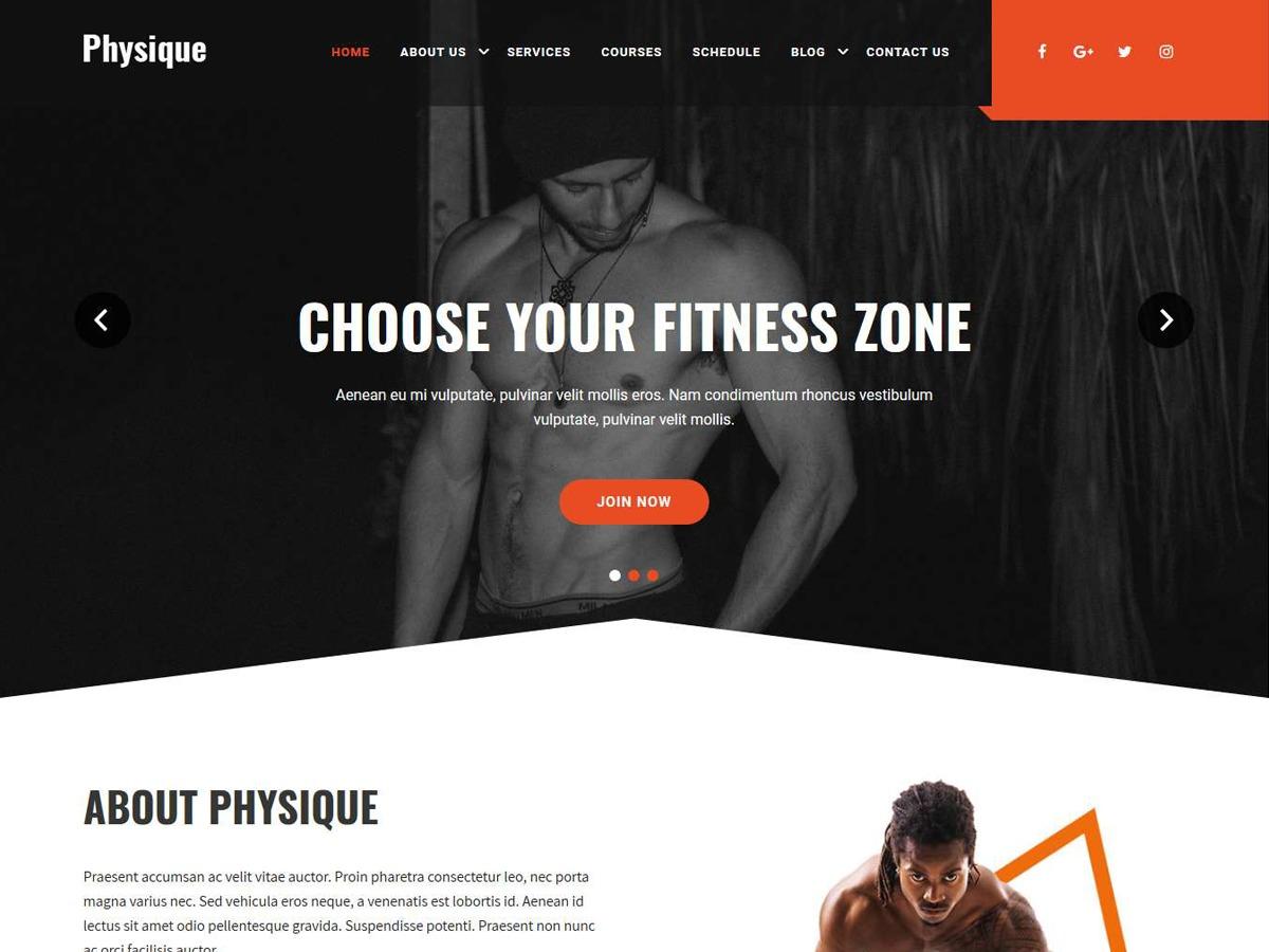 Physique theme WordPress