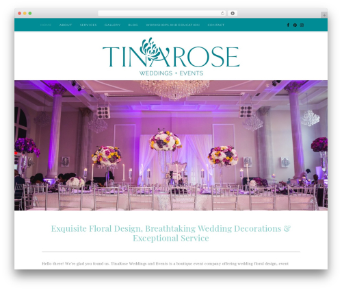 Quinn WordPress theme - tinaroseevents.com