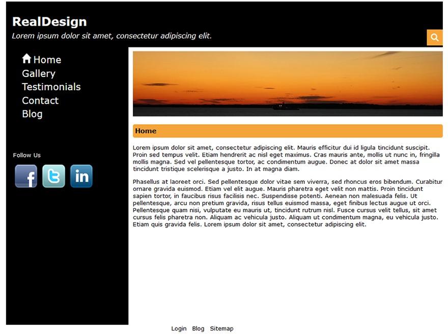 RealDesign free WordPress theme