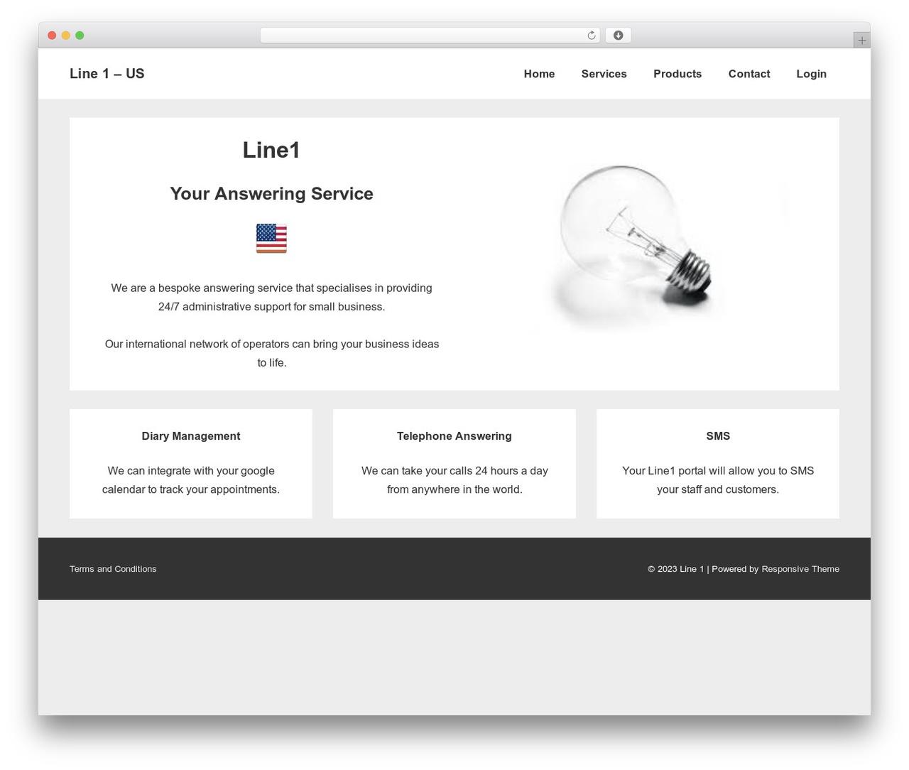 Responsive theme WordPress free - us.line1.co