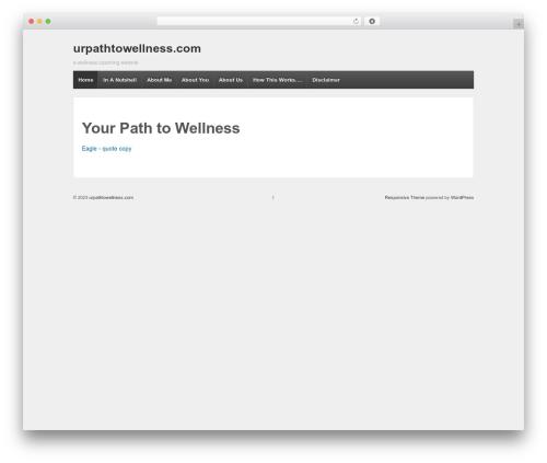 Responsive WordPress theme - urpathtowellness.com
