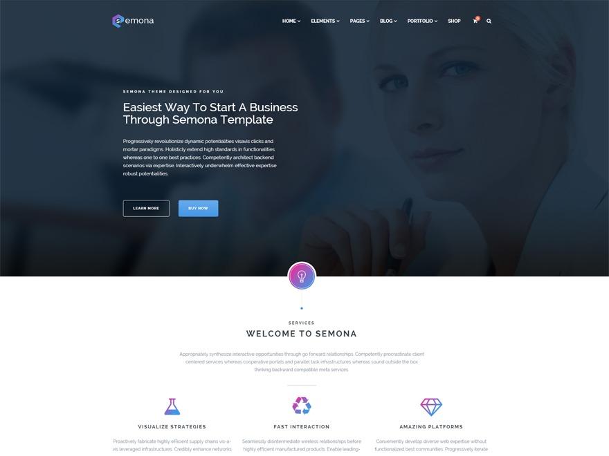 Semona Child best WordPress template