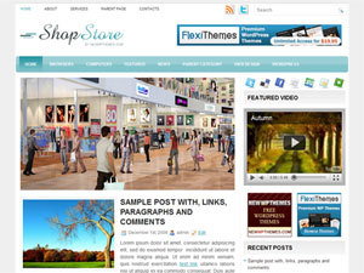 ShopStore WordPress store theme