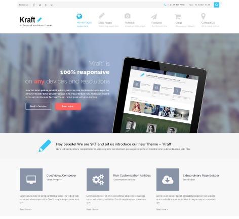 SKT Kraft Pro WordPress photo theme