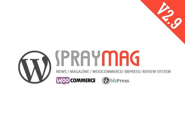 Spraymag WordPress blog template