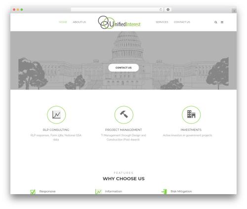 Tower WordPress template for business - unifiedinterest.com