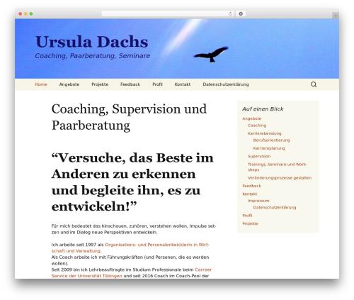 Twenty Thirteen best WordPress template - ursula-dachs.de