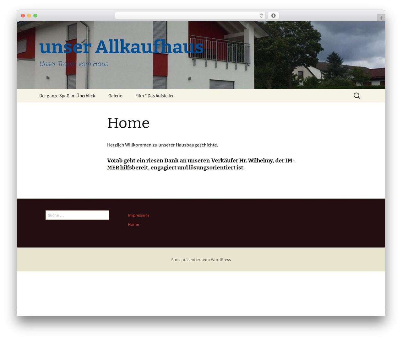 Twenty Thirteen template WordPress free - unser-allkaufhaus.de