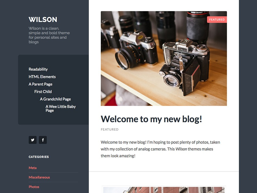 Wilson - WordPress.com WordPress blog theme