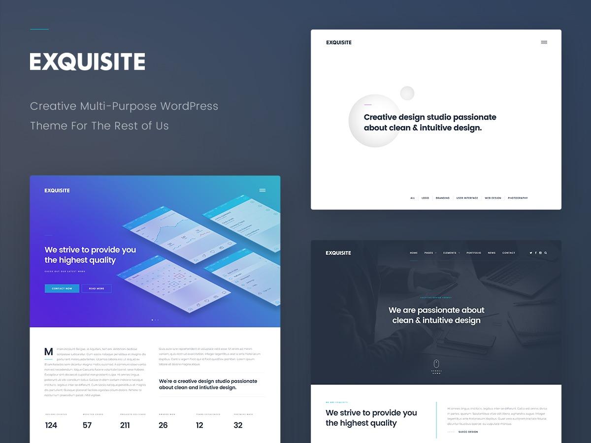 WordPress template Exquisite
