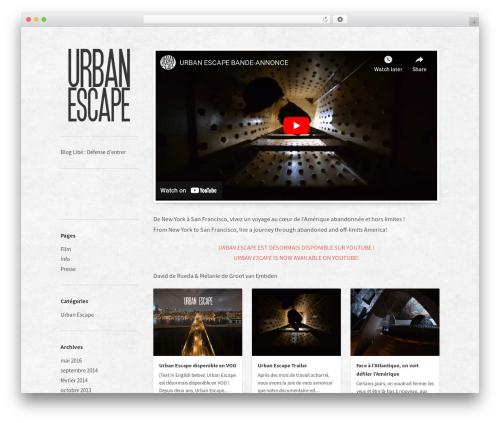 WordPress theme Bulletin - urbanescape.fr