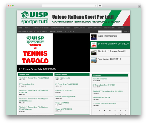 WordPress theme Football Club - ttuispmilano.it